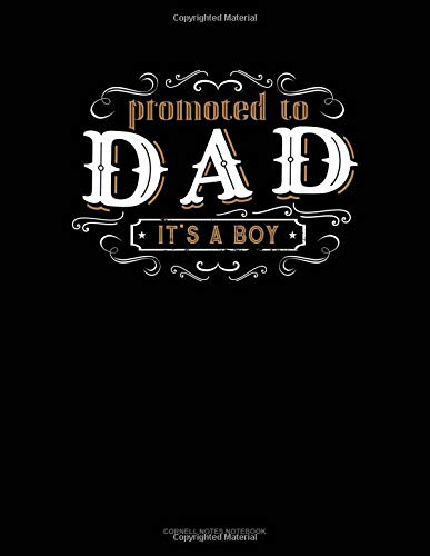 Promoted To Dad It's A Boy: Cornell Notes Notebook por Jeryx Publishing