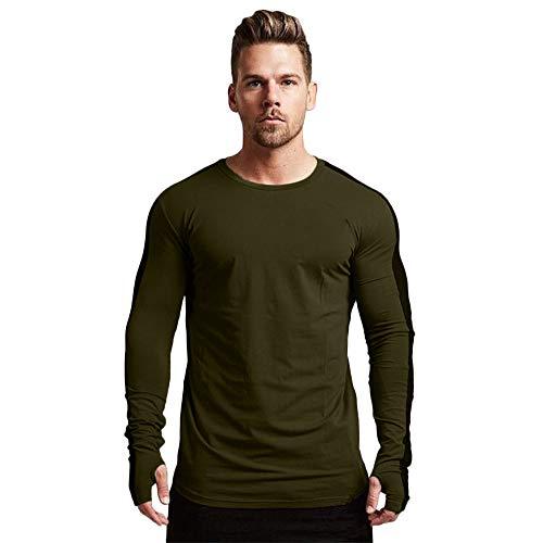 Sweatshirt Herren,SANFASHION Männer Herbst Winter Solid Langarm Patchwork Sport Pullover Mischfarbe Top Bluse