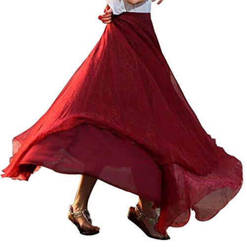 Mode d'été, Amlaiworld Femmes Taille élastique Robe Maxi Melon d'eau