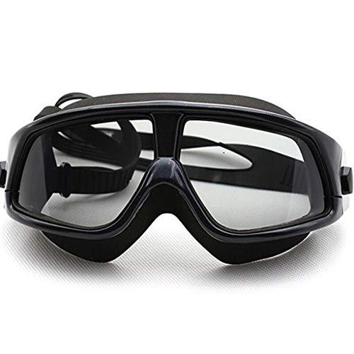 MUTANG Schwimmbrille, Polarized Clear Oversized Frame Überzug Flat Mirror Objektive Schwimmbrille No Leaking Anti Fog UV Schutz Schwimmen Brille (Farbe : F)