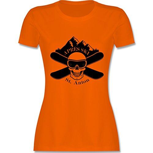 Après Ski - Apres Ski St Anton Totenkopf - tailliertes Premium T-Shirt mit  Rundhalsausschnitt
