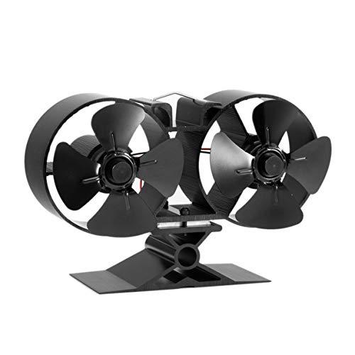 Ofen-Ventilator, F260 4 Klingen-doppelter Hitze-angetriebener Ofen-Ventilator-Brennstoff Energiesparender Ofen-Ventilator Eco freundlicher Ventilator für Hauptküche-Zusätze