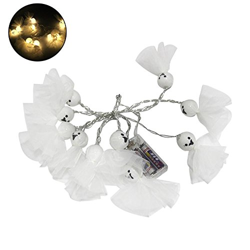 niceEshop(TM) Halloween Dekoration String Lights Ghost String LED Lichter, Fairy String Lights für Halloween Weihnachten Parteien Home Decorations, Warm White, 3 Meter (Die Ansicht Halloween)