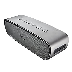 Jam Audio Heavy Metal Stereo Bluetooth Wireless Speaker, 20W Dual Drivers and Passive Bass Radiator for Bold, Crisp Sound, Sleek Aluminium Exterior, Elegant Finish, Connect Wirelessly to any Bluetooth Device, Smartphone, Tablet, Laptop
