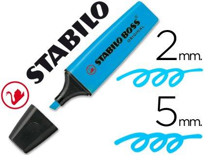 STABILO–feutre Boss fluorescent 70turquoise (Lot de 10)