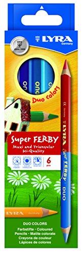 LYRA Super Ferby Duo Kartonetui mit 6 Farbstiften, Sortiert