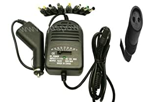 Moondocom - Alimentation Chargeur Universel Allume-cigare Adaptateur pc portable pour voiture (allume-cigare) ACER - ASUS - COMPAQ - DELL - FUJITSU - LITEON - HP - SAMSUNG - NEC - TOSHIBA - SONY - FUJITSU - Garantie 2 ans 90 W