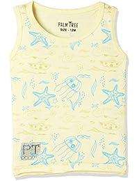 PalmTree Baby Boy's Starred Regular Fit Tank Top