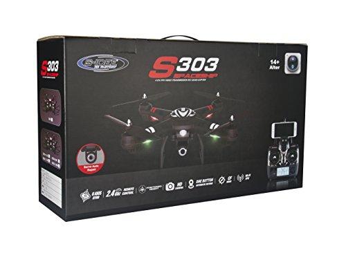 s-idee® 01628 Quadrocopter S303 Wifi HD Kamera FPV Höhenstabilisierung, One Key Return, Coming Home / Headless VR möglich, Drohne 360° Flip Funktion, 2.4 GHz mit Gyro, 4-Kanal, 6-AXIS System Drone mit Camera 720p - 5
