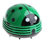 MagiDeal Mini Niedilche Käfer Muster Batteriebetrieben Tisch Staubsauger Mini Staub Reiniger - Grün
