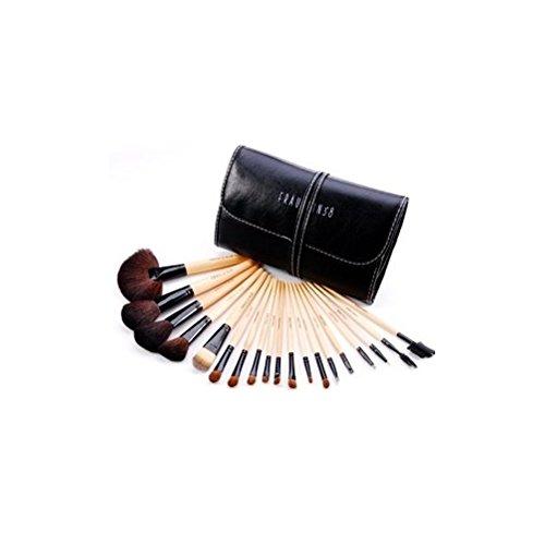 Ensemble De Maquillage Professionnel Sable En Bois Maquillage Jeu De Balais Avec Casse by DELIAWINTERFEL