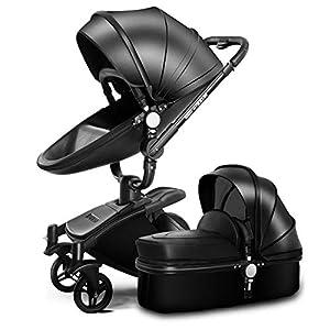 HZC Baby Stroller Bassinet Carriage 3-in-1 Shock-Resistant High Landscape Luxury Pram Stroller for Newborn and Toddler (Color : A)   10