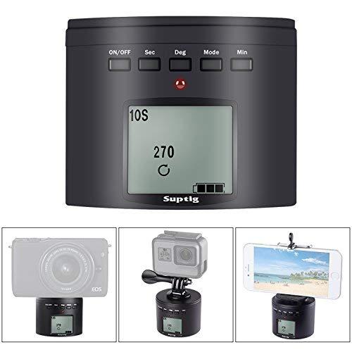 SupTig Stativanschluss Kamera Stativanschluss Elektrische 360Grad Stativkopf für iPhone Samrtphone Digital Kamera Action Kamera