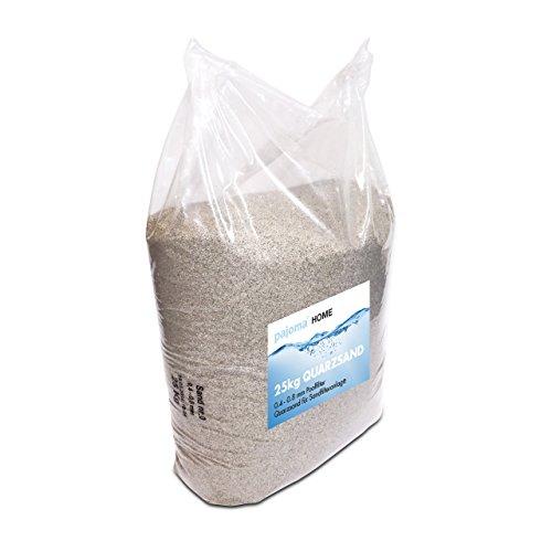 Pajoma Quarzsand für Sandfilteranlage, 1er Pack (1 x 25kg) für Poolfilter