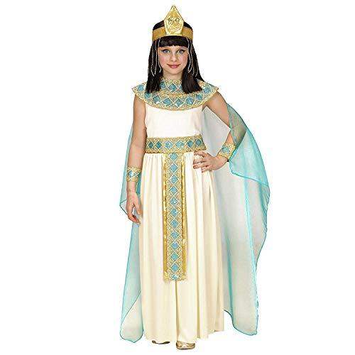 Cleopatra Kind Kostüm Für - Nerd Clear Cleopatra Kostüm für Kinder | 4-teilig: Kleid mit Gürtel, Armbänder, Stirnband, Umhang | ideal für Fasching & Karneval: Größe: 158