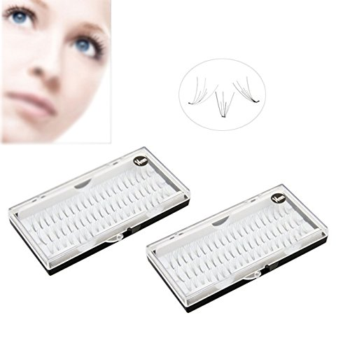 120 FAUX CILS EYELASHES INDIVIDUELS EXTENSION NOIR 14MM