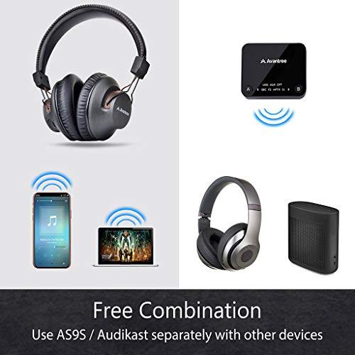 2018 Avantree HT4189 Kabellose Kopfhörer für Fernseher mit Bluetooth Transmitter, Unterstützt Optisch, RCA, 3.5mm AUX, PC USB Audio, Plug & Play, No Delay, 30m HOHE REICHWEITE 40 Std. Akku - 7