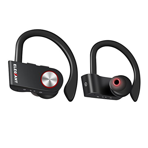 Mini bluetooth kopfhörer, ELEGIANT True Wireless Headset TWS Kopfhörer Bluetooth 4.2 drahtloser Ohrhörer In Ear Wireless Headphone kabellos sport Earbud Ohrstöpseln Zwei Ohren Zwillinge Stereo Headset Dual-Nutzung +Mikrofon+ Ohrhalter+Stereo Audio für iPhone 8 7 6 6S Plus Samsung Galaxy S5 S6 S7 S8 Huawei bzw Android Handys
