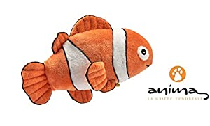 Anima Doo- Peces Clown Doo 18 cm L Peluche, 21201, Naranja