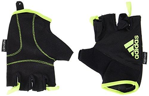 Adidas - Guanti da Fitness, Nero/ Giallo, L