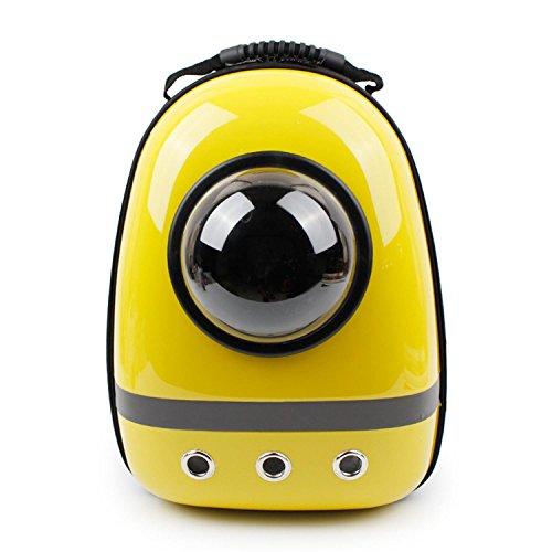 Astronaut-Kapsel-Haustier-Rucksack-Fluglinie Genehmigte Transparente Atmungsaktive Venthole-Hundekatze-FöRdermaschine-Bewegliche Handtaschen-Im Freienreise-Gehende Wandernde Koffer-4 Farbe , yellow (Kinder Schwarz Astronaut Handschuhe)