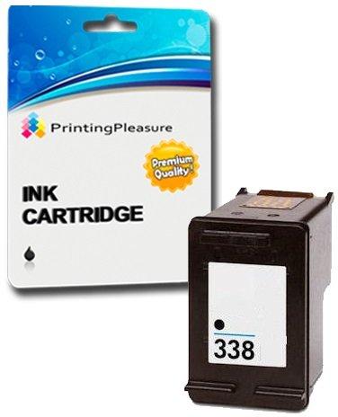 Printing Pleasure Tintenpatrone kompatibel zu HP 338 für DeskJet 460 460c 460cb 6620 6840 9800 9860 Photosmart 2575 Pro B8330 Officejet 100 Mobile 6210 6215 7210 7310 - Schwarz, hohe Kapazität -