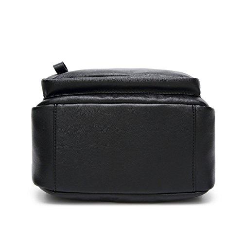 Ragazza Borsa A Tracolla Pratica Grande Capacità Shopping Borsa Da Viaggio Cinturino Portatile Regolabile Nero Black