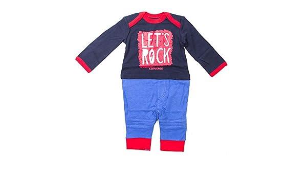 88d504981f85d Converse - Survêtement - Bébé (garçon) 0 à 24 Mois Bleu Bleu: Amazon.fr:  Vêtements et accessoires