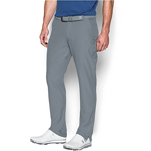 6fb1a061e0745 Under Armour 2016 ColdGear® Infrared Match Play Taper Pants Mens Golf Flat  Front Trousers Steel