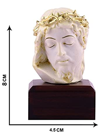 Jesus Idol Statuen Visitenkarte L Jesus Tisch Top L Jesus Statue Christian religiöse 8cm x 4,5cm L von Affaires ideal Geschenk für Weihnachten & Home/Office Dekor g-472