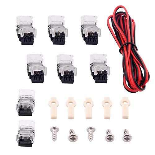 Brightfour 2 Pin LED Strip Verlängerung Verbinder, LED Kabel Linie 180 CM, Clip Montieren, für SMD 3528 2835 LED Streifen Licht LED Strip Band Lampe -