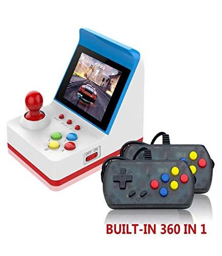 eld-Spiel Mini-Arcade-Spielekonsole Classic Video Gaming Player Tragbares Arcade-System mit 2 ControllerBirthday Kindertagsgeschenk Erholung Blau ()