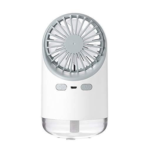 Admier Raffreddamento Nebbia umidificatore Ventilatore 3 in 1 Mini Ventola di Raffreddamento con Acqua nebulizzata Mini Ventilatore palmare Personale con Luce Notturna per Ufficio e Viaggi