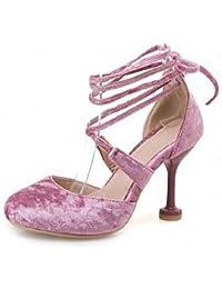 NVXZD Mujer-Tacón Stiletto-Confort-Sandalias-Vestido Informal Fiesta y Noche-Semicuero- , blushing pink , us7 / eu39 / uk6 big kids