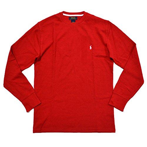 Rundhals Polo Ralph Herren Waffelstrick Shirt Rot Small Lauren X8wPN0Okn