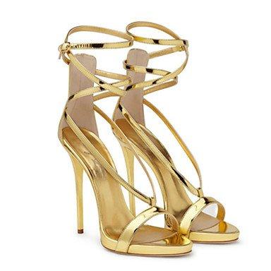 Enochx Donna Sandali Primavera Estate Autunno Novità Comfort PU party di nozze & abito da sera Stiletto Heel fibbia a piedi Gold