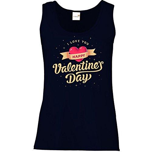 getshirts - RAHMENLOS® Geschenke - Tank Top Damen - Valentinstag Valentine vintage Dunkelblau