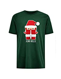Jling Bells Childrens Unisex Green Christmas T-Shirt