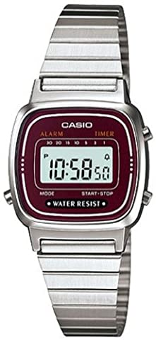 Casio Damen-Armbanduhr Vintage Digital Quarz Metall LA-670WA-4