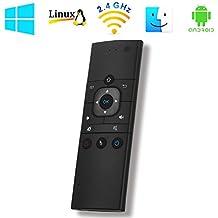 2,4G mando a distancia inalámbrico MX9batería RF mando a distancia Air Mouse con teclado inalámbrico y aprendizaje de infrarrojos para Android Smart TV, IPTV, Android TV Box, HTPC, PCTV, Windows, Mac OS, Linux