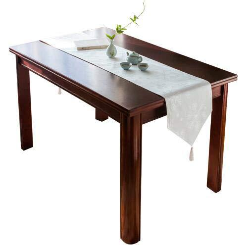 olyester Schneeflocke Tischdekoration Tuch Kaffeetisch, Europäischer Minimalist, Blau, Weiß (Farbe : Weiß, größe : 33 * 260cm) ()