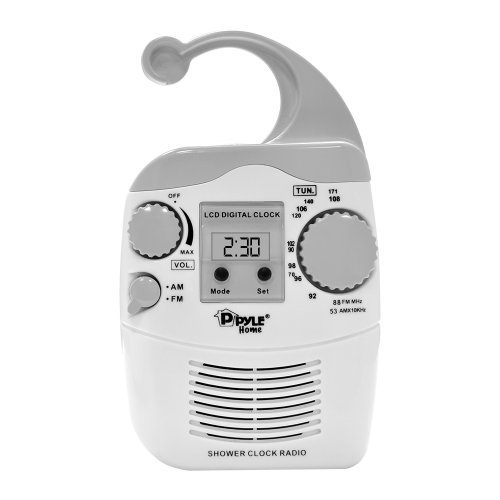 Radiowecker Wasser (Pyle Radio Hängende Wasserdicht Dusche AM/FM Radiowecker, PSR6)