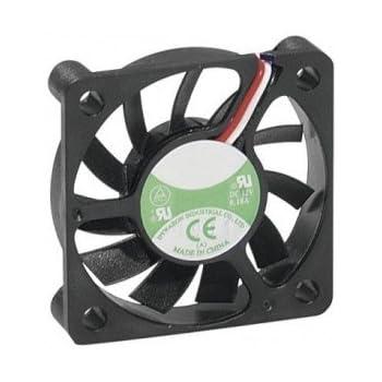 Dexlan Ventilateur de boitier 12 volts 3 fils 50 x 50 x 10 mm