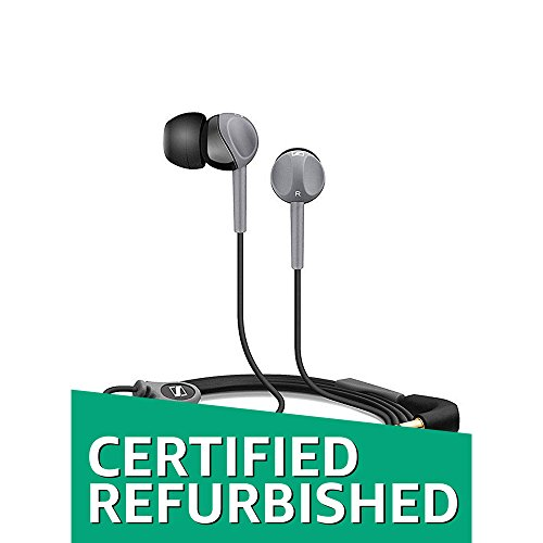 (Certified Refurbished) Sennheiser CX 180 Street II in-Ear Headphone (Black)
