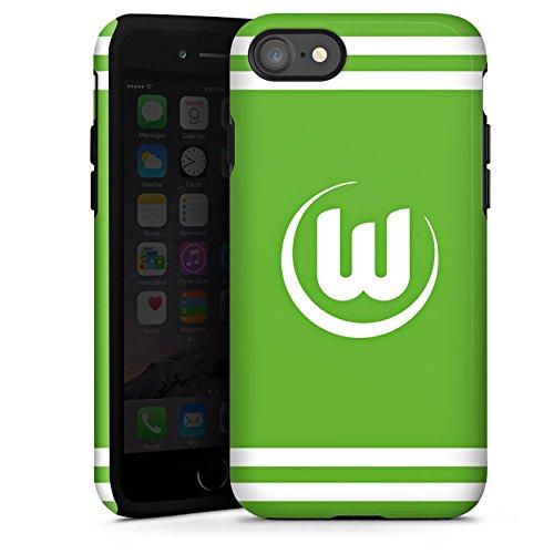 Apple iPhone X Silikon Hülle Case Schutzhülle Vfl Wolfsburg Fanartikel Wölfe Fussball Tough Case glänzend