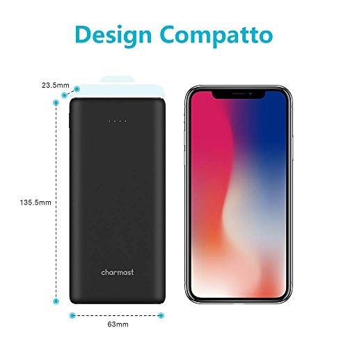 Powerbank 20800mah Ricarica Rapida con USB C Power Delivery e Quick Charge 3.0 Carica batterie Portatili Cellulare con 3 Uscite e 2 Ingressi per Huawei iPhone Samsung LG MacBook