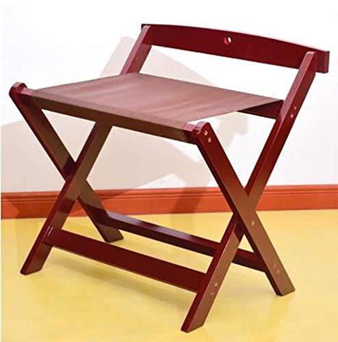 ZTMN Gepäckträger-Falten massivholz zurück gepäckträger gepäck Koffer Koffer hotelzimmer Wohnzimmer kleiderständer größe: 60 * 50 * 65 cm (Farbe: B) - Zurück Massivholz