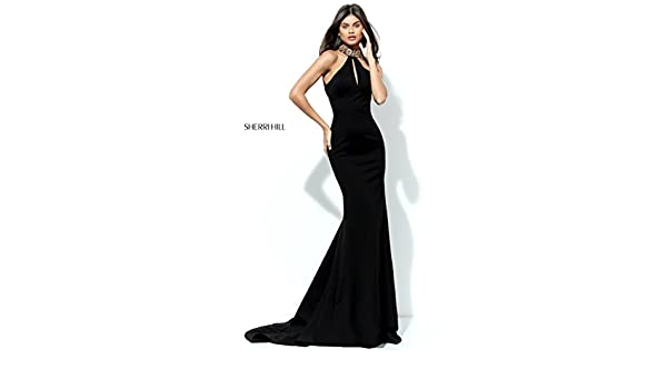 Sherri Hill Wine 50594 Jewelled Neck Dress with Train UK 6 (US 2): Sherri Hill: Amazon.co.uk: Clothing