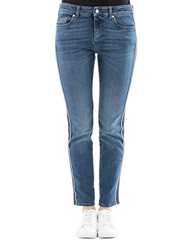Alexander Mcqueen Jeans (Alexander Mcqueen Damen 501957Qkm034340 Blau Baumwolle Jeans)
