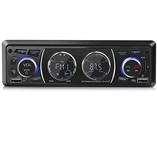 Autoradio mit Bluetooth Freisprecheinrichtung, Single-Din-Universal-Autoradio, USB/TF/FM/WMA/ MP3-Media-Player, drahtlose Fernbedienung enthalten
